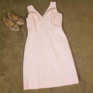 Pink Gingham Sleeveless Dress Size 8 NWT